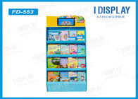China Supermarket Pop Corrugated Cardboard Displays , Cardboard Book Display Stand factory