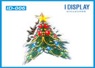 China Floor Advertising Cardboard Christmas Tree Display Stands For Super Mall factory