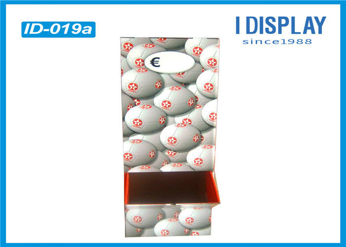 Waterproof Cardboard Advertising Displays , Retail Floor Displays For Football