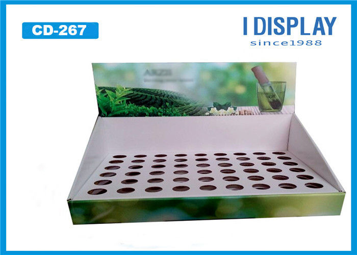 Custom Cardboard Counter Display Boxes Green Color For Electronic Cigarette Oil