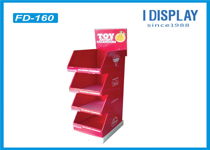 B Flute Portable Cardboard Floor Displays , Cardboard Retail Display Stands For Chocolate