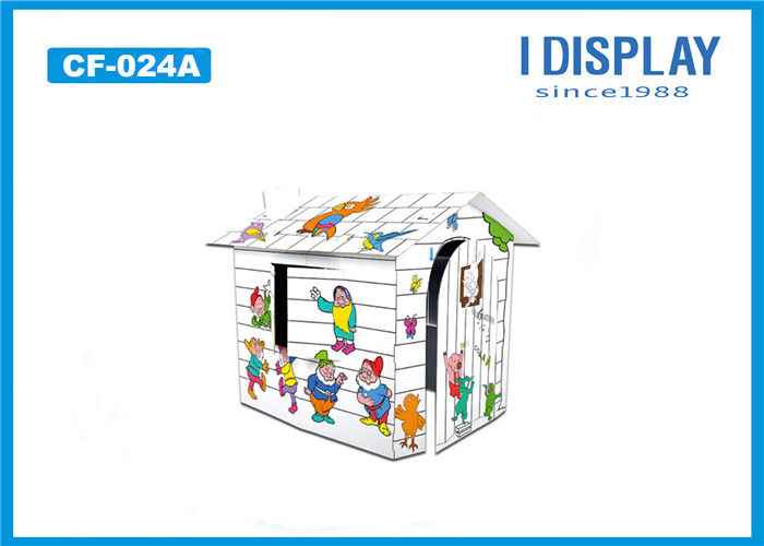 Small Kids Cardboard House / Cardboard Coloring Playhouse For Indoor ...