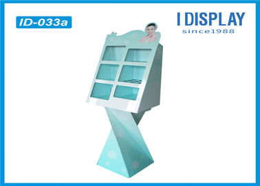 Advertising Floor Cardboard Shop Display Stands For Cosmetic Walmart Approved