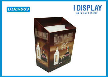 China Cardboard Dump Bin Display , Stackable Wine Corrugated Display Stand factory