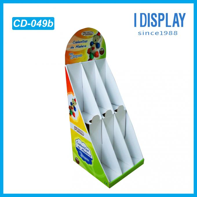 Fruit Candy Cardboard Counter Display Boxes Promotional Small Stands Showroom Designs
